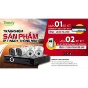 Bộ KIT 4 camera IP 2 MP Tiandy KIT-001N+switch POE